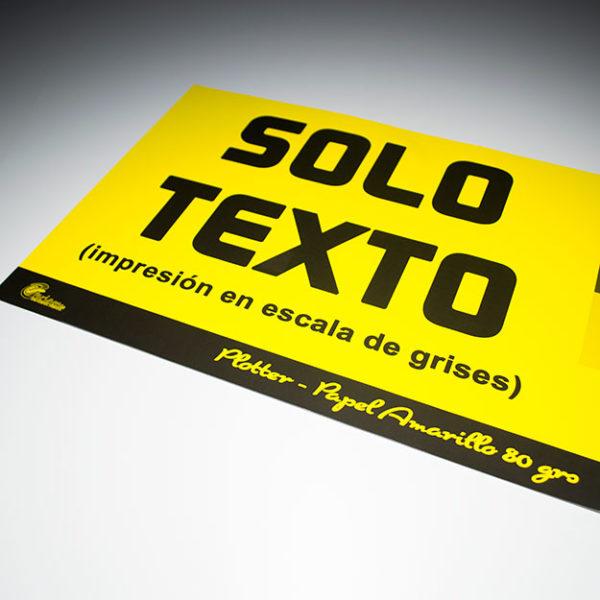 impresión en papel amarillo